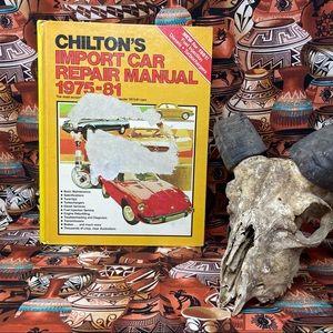 1981 Chilton's 1975-81 Import Repair Hardback Book